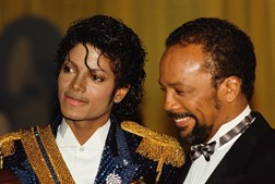 Michael Jackson e o produtor Quincy Jones