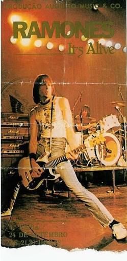 Bilhete Ramones e UHF